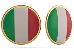 Italy flag symbol isolated on white background. 3D illustration. Italy flag symbol isolated on white background. 3D illustration vector illustration
