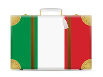 Italy flag travel suitcase Royalty Free Stock Images