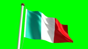 Italy flag stock footage