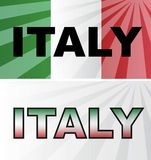 Italy Flags Stock Photo