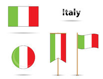 Italy flags Royalty Free Stock Photography