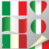 Italy flags set Stock Photo
