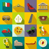Italy flat icons Royalty Free Stock Photos