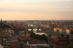 Italy, Florença, rio de Arno Imagem de Stock Royalty Free