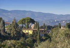 Italy Florença Vista da cidade verde do jf da parte na parte superior Fotos de Stock