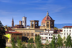Italy. Florence. Ancient houses and Cathedral Santa Maria del Fiore Stock Photo
