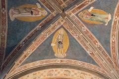 Ceiling fragment of Gothic Church Orsanmichele Florence, Tuscany, Italy stock photo