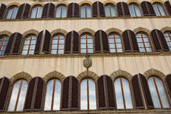 Italy. Florence, the beautiful facade of the old European house. Royalty Free Stock Photography