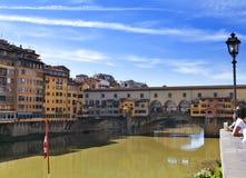 Italy. Florence. Bridge Ponte Vecchio Stock Photos