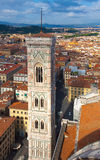 Italy. Florence. The Cathedral of Santa Maria del Fiore, the Duomo.The bell–tower by Giotto Royalty Free Stock Image