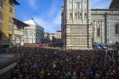Italy,Florence,Cathedral square. Stock Image