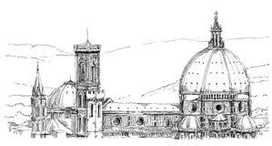 Italy, Florence. Church, panorama of Duomo, Florence, Italy Stock Photo