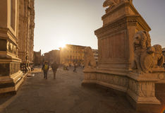 Italy,Florence, the church of  Santa Croce. Stock Image