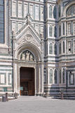 Italy. Florence. Duomo. Enterence Stock Photography