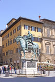 Italy. Florence. Equestrian statue of Cosimo I de 'Medici, Grand Duke of Tuscany Royalty Free Stock Images