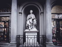 Italy Florence Filippo Brunelleschi statue at Christmas Royalty Free Stock Photos