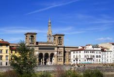 italy Florence Forntida byggnad för Italy Arkivbilder