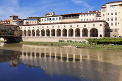 Italy. Florence. Gallery near Ponte Vecchio Bridge Stock Photography
