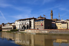 Italy. Florence. Gallery near Ponte Vecchio Bridge Stock Photos