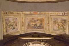 Ceiling fresco fragment in Palazzo Vecchio, Florence, Italy. Royalty Free Stock Images