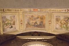 Ceiling fresco fragment in Palazzo Vecchio, Florence, Italy. Stock Photography