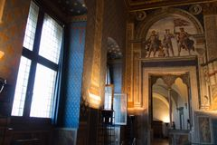 Sala dei Gigli in Palazzo Vecchio, Florence, Tuscany, Italy. Stock Image