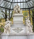 Italy. Florence. Monument to diplomat and philanthropist Nicholas Nikitich Demidov Stock Image