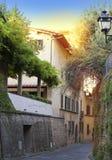 Italy. Florence. Narrow small street Stock Photo