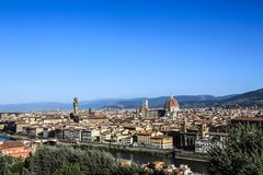 Italy Florence Panorama of the old town stock image