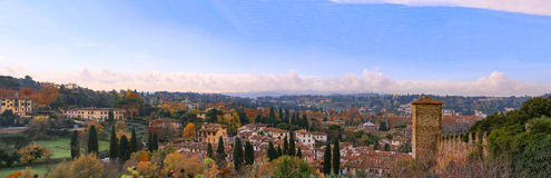 italy Florence Panoramautsikt från Giardino Bardini Royaltyfria Foton