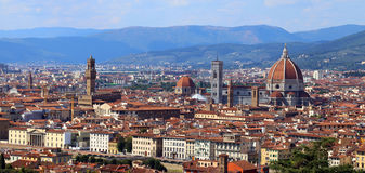 Italy FLORENCE panoramic view with dome bell tower Royalty Free Stock Photos