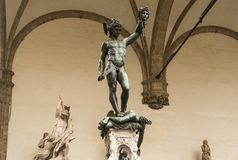 Perseus with the Head of Medusa. Italy. Florence. Perseus with the Head of Medusa is a bronze sculpture made by Benvenuto Cellini in the period 1545-1554 Stock Photos