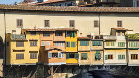 Italy,Florence, Ponte Vecchio. Italy,Tuscany,Florence,Ponte Vecchio bridge,view across the river Arno from the Uffizi gallery royalty free stock image