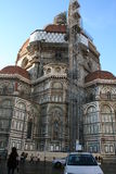 Italy. Florence. Repair of the cathedral Duomo. Italy. Florence city. Repair of the cathedral Duomo Stock Photography