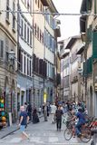 ITALY FLORENCE STREET LIFE. ITALY - FLORENCE - SEPTEMBER 3: People are enjoying the streets in Florence Italy on September 3 2018 Stock Images