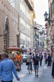 ITALY FLORENCE STREET LIFE. ITALY - FLORENCE - SEPTEMBER 3: People are enjoying the streets in Florence Italy on September 3 2018 Stock Photos