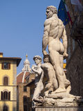 Italy,Florence, Signoria square,statue of David. Royalty Free Stock Image