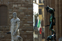 Italy,Florence, Signoria square and statue. Royalty Free Stock Photography