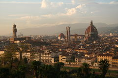 Italy, Florence at sunset Stock Images