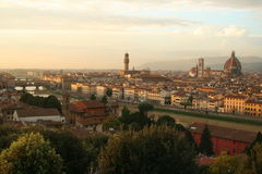 Italy, Florence at sunset Royalty Free Stock Photography