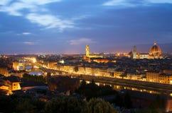 Italy, Florence, Tuscany,. Night view Stock Photos