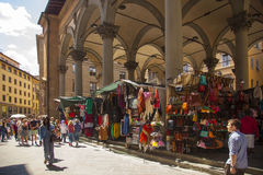 Italy,Florence. Tuscany,Florence,the Porcellino market in the city center and tourist stock photo