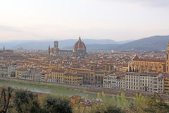 Italy. Florence. Veiw to city and Duomo cathedral Royalty Free Stock Images