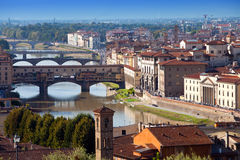 Italy. Florence. View of the city on top Stock Photo
