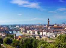 Italy. Florence. View of the city on top Stock Photography
