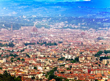 Italy. Florence. View of the city on top in a sunny day Royalty Free Stock Image