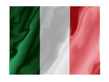 Italy fluttering. Fluttering image of the Italian national flag Stock Image