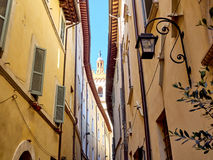 Italy Folinho. Italy Foligno streets of the old medieval city Royalty Free Stock Images