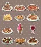 Italy food stickers Stock Image