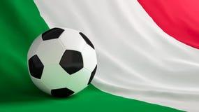 Italy football. Ball for football on the flag of Italy Royalty Free Stock Photos